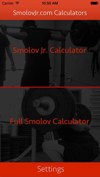 Smolov Calculator App